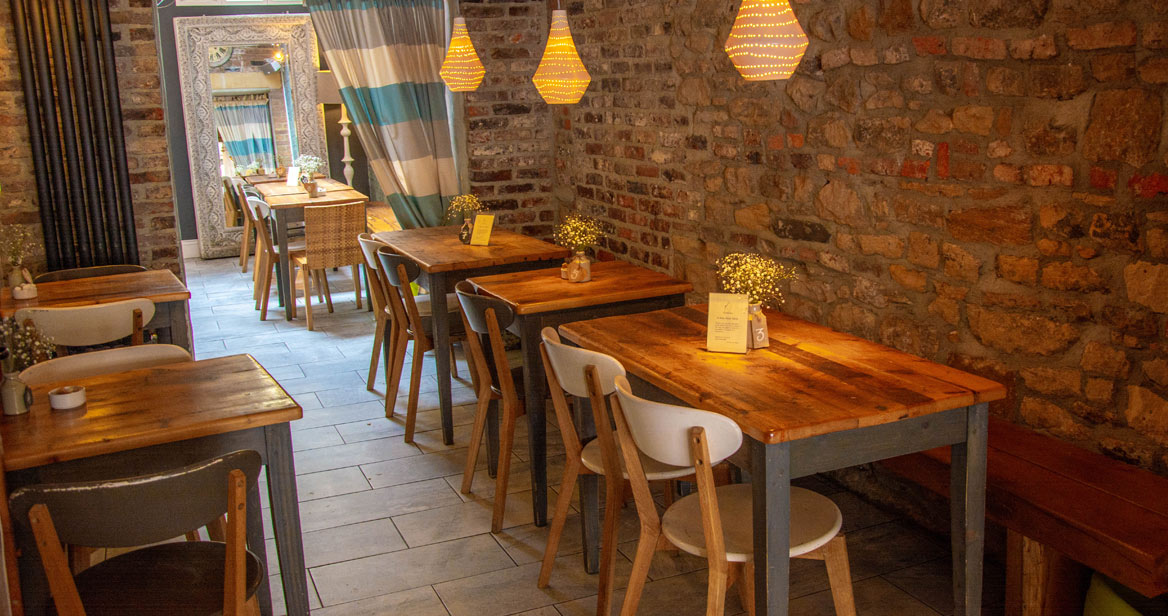 Seating area at Dil & the Bear