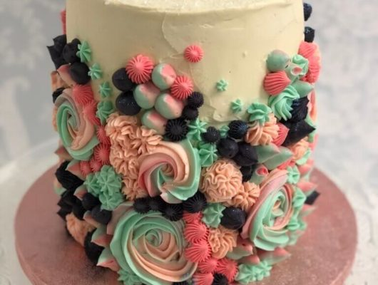 An iced tower showstopper cake
