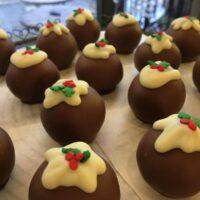 Xmas pud cake truffles